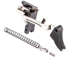 ZEV Technologies PRO Drop-In Trigger Kit Curved Face Glock 17, 19, 26, 34 Gen 1, 2, 3 Aluminum