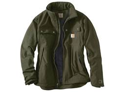 Carhartt Men's Quick Duck Jefferson Traditional Insulated Jacket Cotton/Polyester Canvas Olive