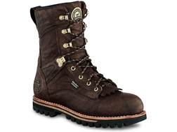"Irish Setter Elk Tracker 10"" Waterproof Hunting Boots Leather Brown Men's 11 D"