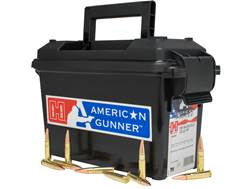 Hornady American Gunner Ammunition 300 AAC Blackout 125 Grain Hollow Point Boat Tail Ammo Can of 200