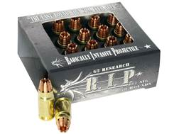 G2 Research R.I.P. Ammunition 357 Sig 92 Grain Radically Invasive Projectile Fragmenting Solid Co...
