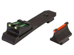 TRUGLO Sight Set Ruger 10/22 Steel Blue Fiber Optic Green