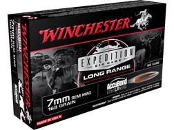 Winchester Expedition Big Game Long Range Ammunition 7mm Remington Magnum 168 Grain Nosler Accubo...