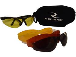 Raidans T-85 Shooting Glasses Kit Black Frame Clear Smoke Amber Orange and Copper Lenses