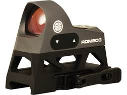 Sig Sauer ROMEO3 Reflex Sight 1x 25mm 1 MOA Adjustments 3 MOA Dot Reticle Picatinny-Style Full Co...
