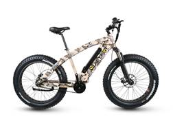 QuietKat 1000W Motorized FatKat Bike with Internal Motor and Carbon Belt Drive Camo