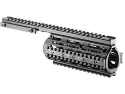 FAB Defense Quad Rail Free Float Tube Customizable Rail AR-15 Flat-Top Carbine Length Aluminum Black