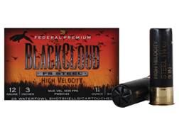 "Federal Premium Black Cloud Ammunition 12 Gauge 3"" 1-1/8 oz #3 Non-Toxic FlightStopper Steel Shot..."