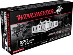 Winchester Expedition Big Game Ammunition 270 Winchester Short Magnum (WSM) 140 Grain Nosler Accu...