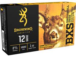 "Browning BXS Deer Slug Ammunition 12 Gauge 2-3/4"" 1 oz Copper Sabot Slug Lead-Free"