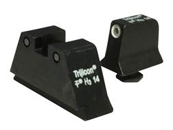 Trijicon Suppressor Night Sight Set Glock Large Frame 3-Dot Tritium Green with White Front Outline