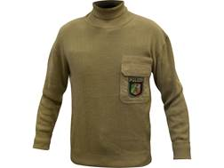 Military Surplus German Police Sweater Turtleneck Grade 2 Large Khaki
