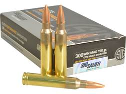 Sig Sauer Elite Performance Match Grade Ammunition 300 Winchester Magnum 190 Grain Open Tip Match...