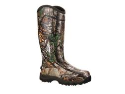 "Rocky Core 16"" Waterproof 1600 Gram Insulated Hunting Boots Rubber Realtree Xtra Camo Men's"