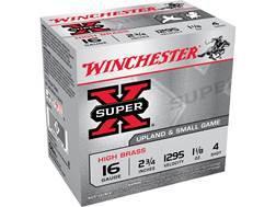 """Winchester Super-X High Brass Ammunition 16 Gauge 2-3/4"""" 1-1/8 oz #4 Shot"""