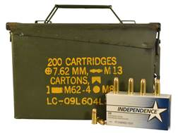 Independence Ammunition 9mm Luger 115 Grain Jacketed Hollow Point Surplus Ammo Can of 500 (10 Box...