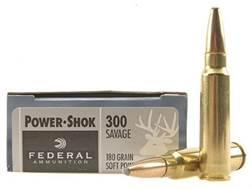 Federal Power-Shok Ammunition 300 Savage 180 Grain Soft Point