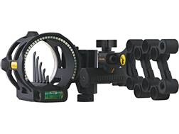 "Trophy Ridge React V5 5-Pin Bow Sight with Light .019"" Pin Diameter Right Hand Black"