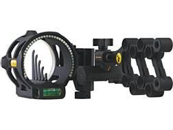 "Trophy Ridge React V5 5-Pin Bow Sight with Light .019"" Pin Diameter Right Hand Black"