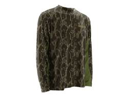 NOMAD Men's Cooling T-Shirt Long Sleeve Polyester Mossy Oak Bottomland Camo XL
