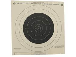 NRA Official Smallbore Rifle Training Targets TQ-4 100 Yard Paper Package of 100