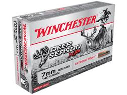 Winchester Deer Season XP Ammunition 7mm Remington Magnum 140 Grain Extreme Point Polymer Tip