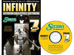 "Sierra Infinity Suite ""Infinity Exterior Ballistic Software Version 7 and 5th Edition Manual"" CD-ROM"