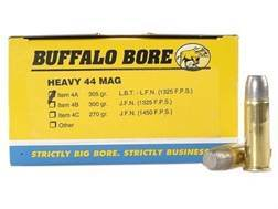 Buffalo Bore Ammunition 44 Remington Magnum 305 Grain Lead Long Flat Nose