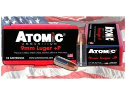 Atomic Ammunition 9mm Luger Subsonic 147 Grain Bonded Match Hollow Point Box of 50