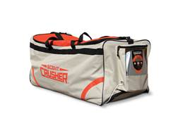 Scent Crusher Rolling Duffel Bag Scent Elimination Device Nylon Tan and Orange