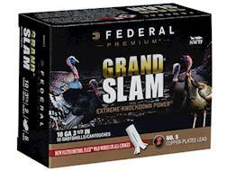 "Federal Premium Grand Slam Turkey Ammunition 10 Gauge 3-1/2"" 2 oz Buffered #5 Copper Plated Shot ..."