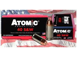 Atomic Ammunition 40 S&W 180 Grain Bonded Match Hollow Point Box of 50