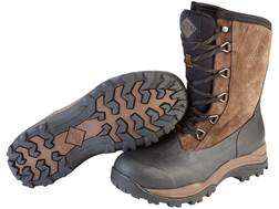 "Muck Arctic Outpost Lace Mid 12"" Waterproof 4mm Insulated Hunting Boots Leather/Rubber"