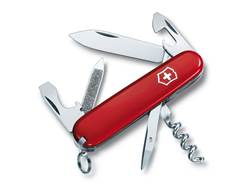 Victorinox Swiss Army Sportsman Folding Pocket Knife 13 Function Stainless Steel Blade Polymer Ha...