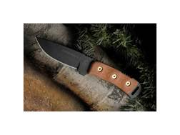 """TOPS Knives Overlander 2 Fixed Blade Tactical Knife 4"""" Drop Point 1095 Stainless Steel Blade Mica..."""