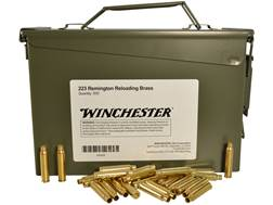 Winchester Reloading Brass 223 Remington Ammo Can of 500 (Bulk Packaged)