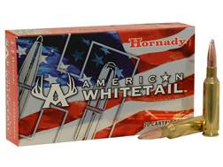 Hornady American Whitetail Ammunition 6.5 Creedmoor 129 Grain Interlock Spire Point Box of 20