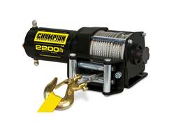 Champion 2200 lb Winch Kit with 49' Galvanized Cable