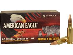 Federal American Eagle Ammunition 6.5 Grendel 90 Grain Jacketed Hollow Point Box of 50