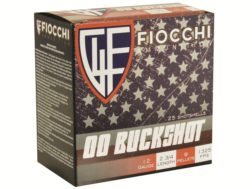 "Fiocchi Ammunition 12 Gauge 2-3/4"" 00 Buckshot 9 Pellets Box of 25"
