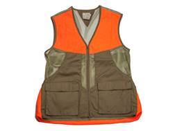 Beretta Men's Upland Mesh Vest Brushed Cotton and Polyester Tan and Blaze Orange