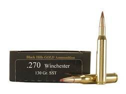 Black Hills Gold Ammunition 270 Winchester 130 Grain Hornady SST Box of 20