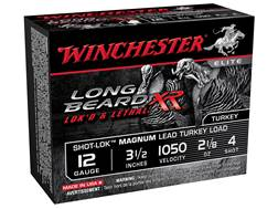 "Winchester Long Beard XR Turkey Ammunition 12 Gauge 3-1/2"" 2-1/8 oz #4 Copper Plated Shot"