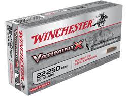 Winchester Varmint X Ammunition 22-250 Remington 55 Grain Polymer Tip Box of 20