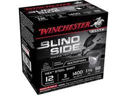"Winchester Blind Side Ammunition 12 Gauge 3"" 1-3/8 oz BB Non-Toxic Steel Shot"