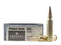 Federal Power-Shok Ammunition 300 Savage 150 Grain Soft Point Box of 20