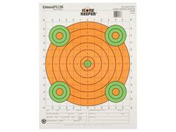 "Champion Score Keeper 100 Yard Sight-In Rifle Targets 14"" x 18"" Paper Fluorescent Orange Bull Pac..."