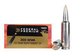 Federal Premium Vital-Shok Ammunition 300 Winchester Short Magnum (WSM) 165 Grain Trophy Bonded T...