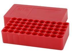 MTM Slip-Top Ammo Box 10mm Auto, 41 Remington Magnum, 45 ACP Round Hole 50-Round Plastic Red