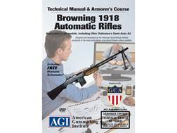 "American Gunsmithing Institute (AGI) Technical Manual & Armorer's Course Video ""Browning 1918 Aut..."